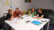 Adults students in Evening English Class at west London English centre