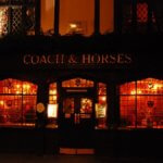 Coach and Horses pub nigh photo. London Evening English courses to improve the way speak English