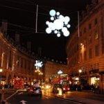 London street by night. Students enjoying evening English courses and night London