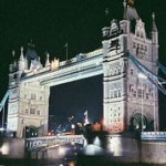 London Bridge by night. Evening course of English in London for working adult learners.
