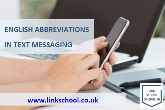 English Abbreviations in Texting and Messaging, hand tapping on a smartphone