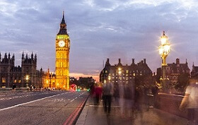 Big Ben in London. Find English language school London to recruit students for English courses in London