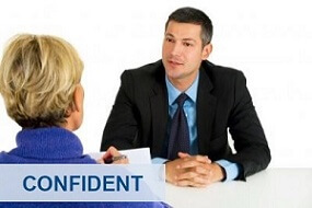 Two people talking and learning English in Job Interview Preparation Course London