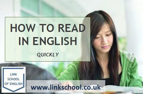 Student reading in English at language school in London. Find out how to read in English more quickly.