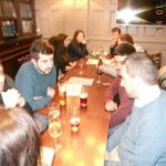 People speaking English in a pub. English language exchange with Link School of English in London and people living in west London.