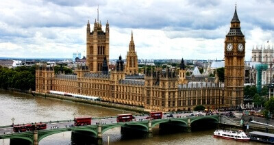 Big Ben, Houses of Pariliament and Westminster Bridge. Visit London Attractions and Improve your English during Summer