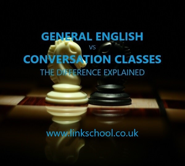 General English vs conversation classes the difference explained. Chess horses black and white.