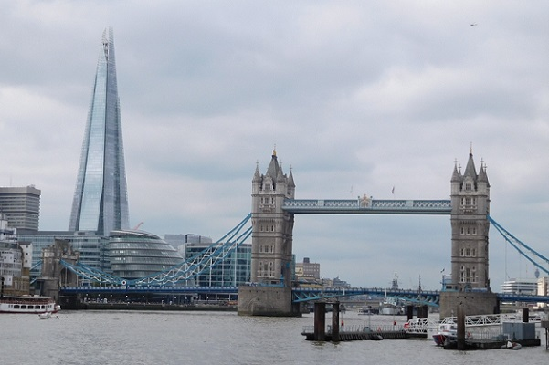 Tower Bridge and the Shard in London - free activities in London
