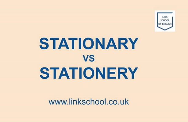 Stationary vs stationery
